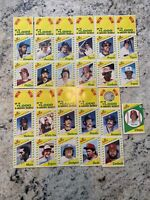 1982 Squirt Complete Set 22 Players-11 Uncut Panels-Rare oddball+1981 Pete Rose