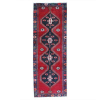 3x9 Traditional Geometric Oriental Vintage Hand Knotted Wool Runner Area Rug
