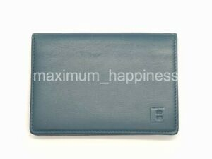 BALLY GALLEY LEATHER FLAPPED CARD CASE / COMPACT WALLET - AUTHENTIC