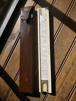 Vintage Fredrick Post 1452 W Slide Ruler & Leather Case