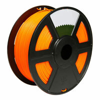 Transparent Orange 3D Printer Filament 1kg/2.2lb 1.75mm PLA MakerBot RepRap