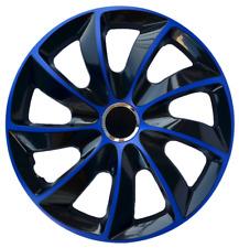 """4x Wheel Covers Hub Caps 16Inch Universal Wheel Trims ABS 16"""" Trim [STIG Blue]"""