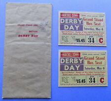 Two (2) 1944 KENTUCKY DERBY ADMISSION TICKETS & ORIGINAL ENVELOPE