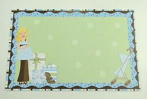 23 Baby Shower Invitations Boy Blue Green Stripe Free Shipping