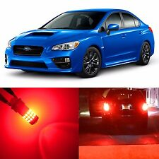 Alla Lighting Brake Tail Light T20 Red LED Bulb for 02~17 Subaru Impreza WRX STI