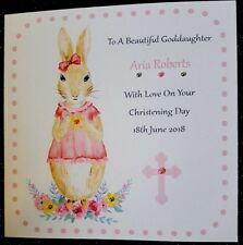PERSONALISED HANDMADE CHRISTENING/HOLY COMMUNION CARD GODDAUGHTER GRANDDAUGHTER