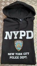 NYPD BLACK XXL HOODIE NEW YORK POLICE DEPARTMENT 2XL BLACK HOODY N.Y.P.D HOODEE