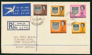 Mayfairstamps Northern Rhodesia 1964 Lusaka to Port Elizabeth Registered Cover w