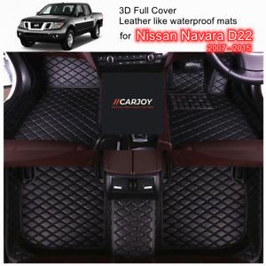 3D Black PU leather Customized Waterproof Car Floor Mats for Nissan Navara D22