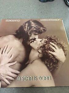 STREISAND & KRISTOFFERSON - A STAR IS BORN,1976 Vinyl LP Album Record