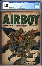 Rare Airboy Comics Vol. 5 #5 CGC 1.8 1948 Skull and Ghouls Cover Hard to find
