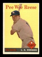 1958 Topps Set Break # 375 Pee Wee Reese VG Crease *OBGcards*