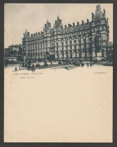 Postcard Court Size early Liverpool Lancashire the Lime Street railway station