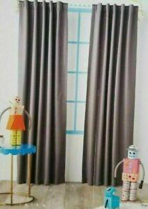 "2 Pillowfort Grey Mesh Blackout Window Curtain Panels 42"" W x 84"" L (1 pair) NIP"