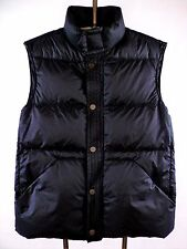"PEUTEREY Italy ""Margarita"" Black Down Snap Front Puffer Vest Gilet Men's Size M"