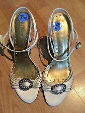 BCBG Off White Satin Heels, size 7.5, NWOB!