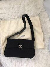 Vintage Bally Black Quilted Shoulder Bag