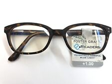 New! Foster Grant Reading Glasses +1.00 Unisex Matte Brown Leopard Print