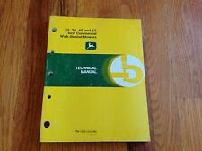 Deere TM1305 Walk Behind Commercial Mower Manual 32 36 48 52 Inch Repair Rebuild