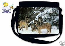 Sac bandoulière moyen modèle loup réf 40 personnalisé avec prénom