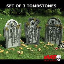 Lot de 3 Grande Pierre Tombale tombe cimetière décoration Halloween Prop 55 cm