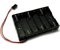 C1206-1 RC Battery Holder Case Box Pack 6 x AA Futaba Compatible Plug