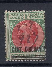 1926 MARCHE DA BOLLO LUSSO E SCAMBI 50 CENT. SU 1,50 LIRE II SEZIONE ANNULLATA