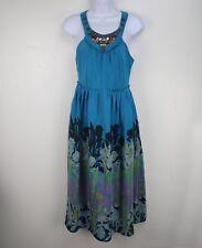 Anthropologie Floral Neck Embellished Dress By Moulinette Soeurs Size 2