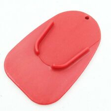 Red Kickstand Side Stand Plate Pad Base for Yamaha Honda Harley Universal
