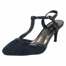 Patternless Slim Casual Textile Heels for Women