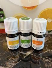 Young Living Bundle Sealed - Lime, Orange, Lemon 5ml
