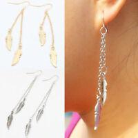 Women Tassel Feather Chains Pendant   Earrings Hook Dangle Jewelry Party Gift