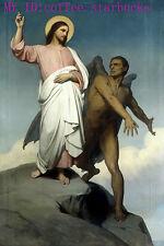 "Art Repro oil painting:""Religious Christ Christian Portrait at canvas"" 36x48"