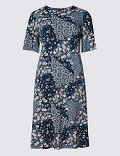 Marks and Spencer Viscose Tunic Floral Dresses for Women
