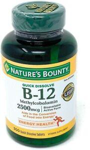 Nature's Bounty Vitamin B-12 2500 mcg 300 ct