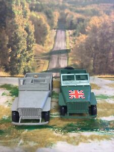 Vintage Plastic Willys Jeep American and British Army 1/32