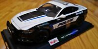 Maisto 1/18 Scale Ford Mustang GT Police Car 2015 Model Diecast SEE VIDEO