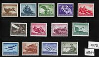 #3875   Complete MNH stamp set / 1944 Military set / Third Reich / WWII Germany
