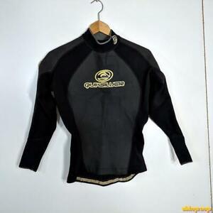 QUIKSILVER Wetsuit Top Shirt 2.0 mm Wet Suit Mens Size L Black neoprene/nylon