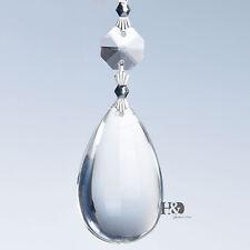 1Pcs Clear Tear Drop Crystal Prisms Glass Lamp Chandelier Lighting Pendants 50mm