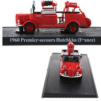Fire Truck 1960 Premier-secours Hotchkiss FRANCE 1/64 Diecast Models Toys Red