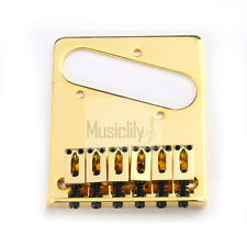Musiclily Gold 6 String Electric Guitar Bridge for Fender Tele Telecaster Style