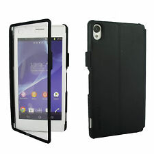 Premium Roxfit Wallet Book Flip Touch Case Cover Stand For Sony Xperia Z3 New