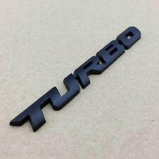 Metal Black Car Turbo Auto Trunk Lid Rear Badge Emblem Decal Sticker