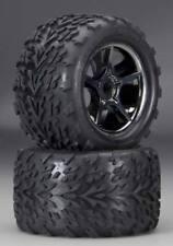 Traxxas 5374X Gemini Black Chrome Wheels w/Talon Tires 17mm - Revo E-Revo E-Maxx