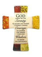 Porcelain Cross Serenity Prayer - Free standing or Hanging Cross