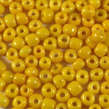 Perles de Rocailles en verre Opaque 4mm Jaune 20g (6/0)