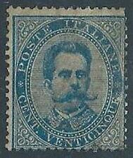 1879 REGNO UMBERTO I 25 CENT MH * - ED364