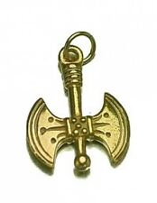 LOOK 3D He-man Battle Axe 24kt gold plated over real silver