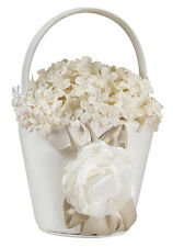 taupe wedding flower girl basket